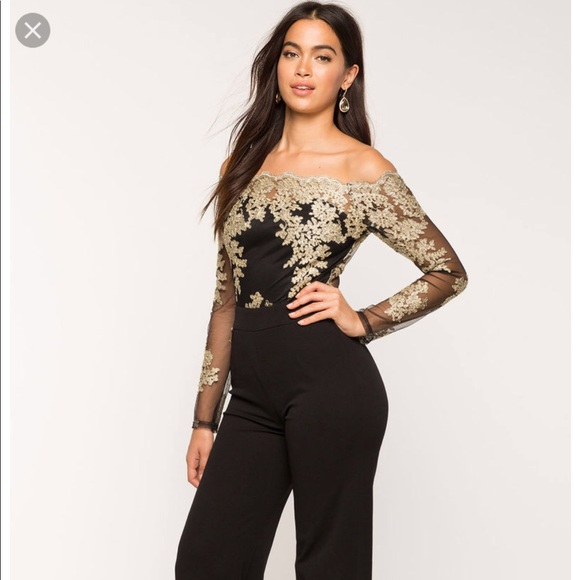 ac73e561238 a gaci Other - Black and Gold jumpsuit